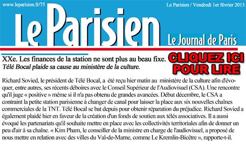 Le parisien 1er Février slide