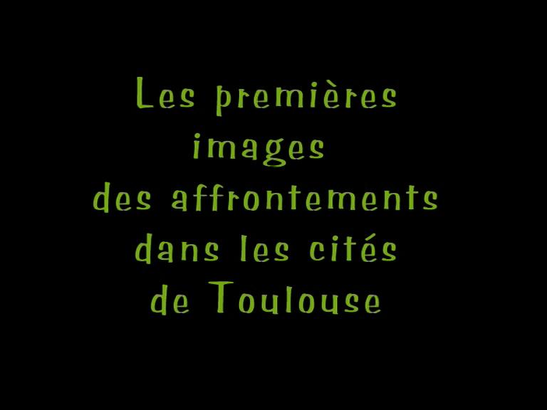 les images des affrontements dans les cités de Toulouse n°35 déc 98