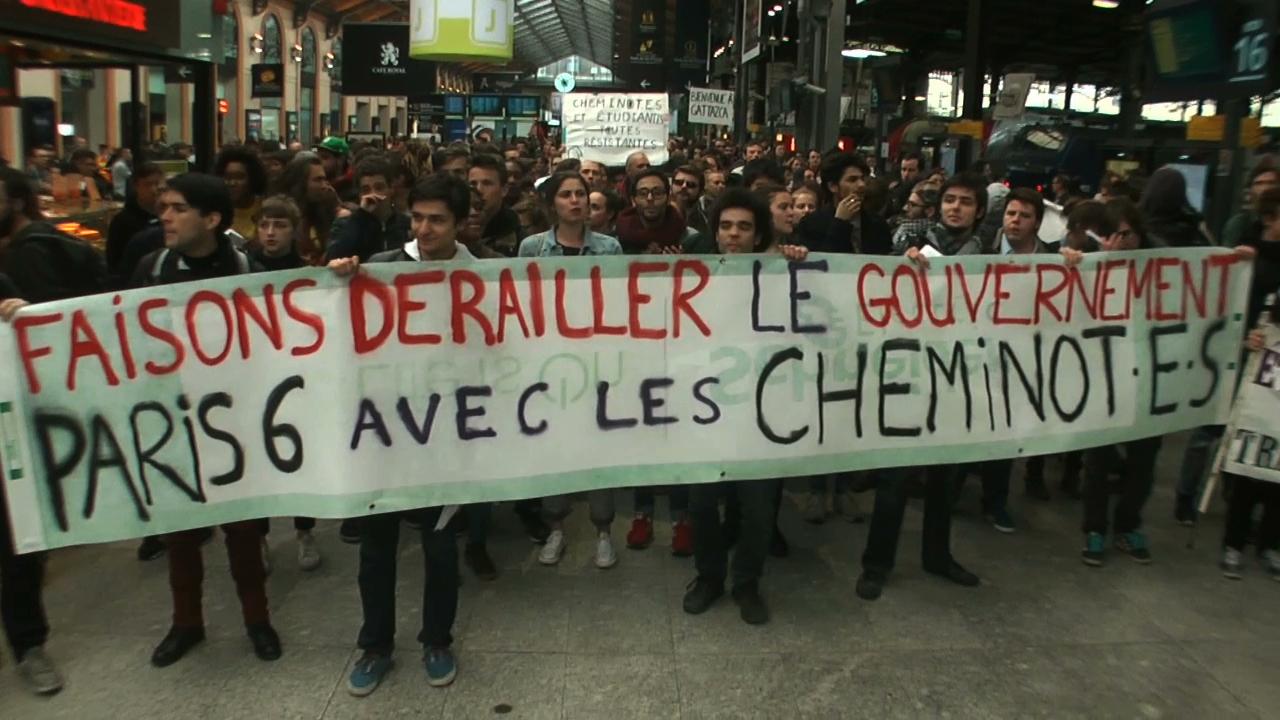 Manif Saint-Lazare 9'31
