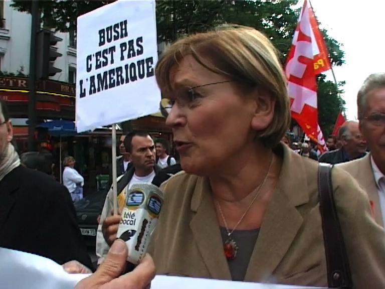contre la venue de Bush à Paris juin08